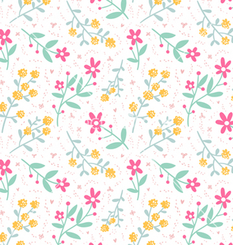 Free spring mood seamless floral pattern vector - Kostenloses vector #235429