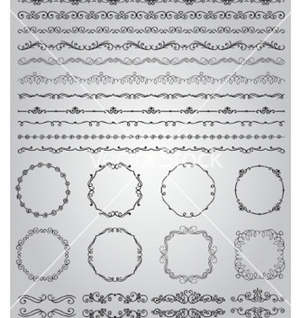 Free black hand drawn doodle borders and frames vector - vector #235439 gratis
