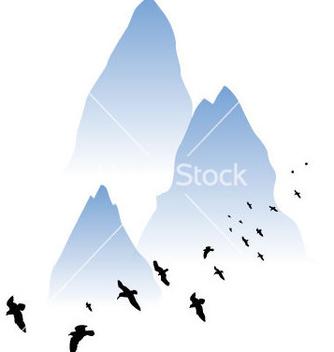 Free watercolor mountain vector - Kostenloses vector #235649