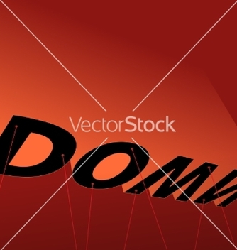Free down poster vector - Free vector #235679