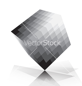 Free 3d cube pixelate style vector - Free vector #235709