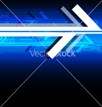 Free abstract arrow technology background vector - Free vector #235739