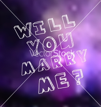 Free poster template for marriage proposal design vector - vector #235829 gratis