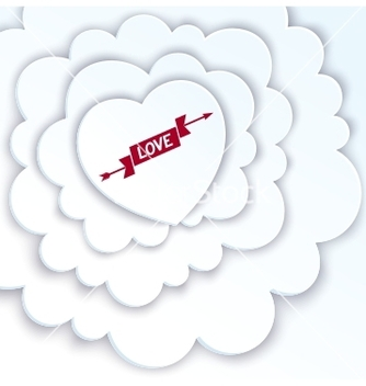 Free heart in the clouds vector - Free vector #235989