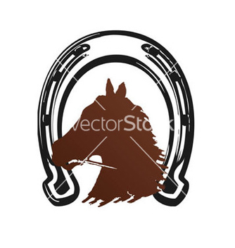 Free horse horseshoe brown print vector - бесплатный vector #235999