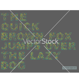 Free alphabet vector - Kostenloses vector #236029