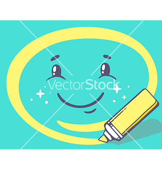 Free marker drawing circle around smile on gre vector - Free vector #236109