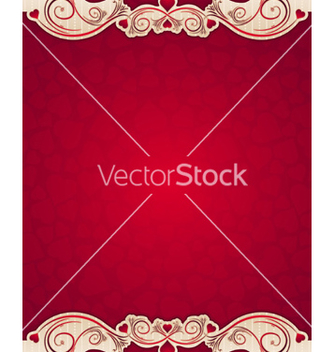 Free red valentine background with hearts vector - Free vector #236139