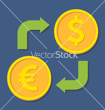 Free currency exchange euro and dollar vector - vector gratuit #236409