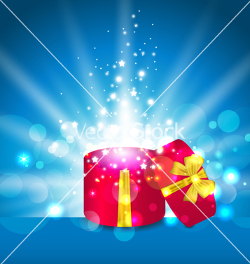 Free open round gift box for your holiday vector - Free vector #236419