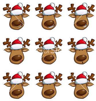 Free santas elks expressions vector - Free vector #236569
