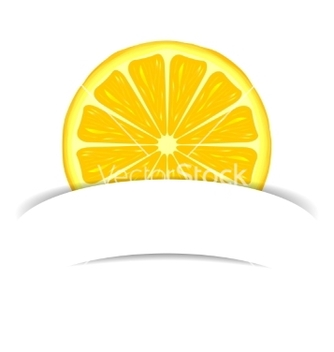 Free lemon with paper banner vector - vector gratuit #236629