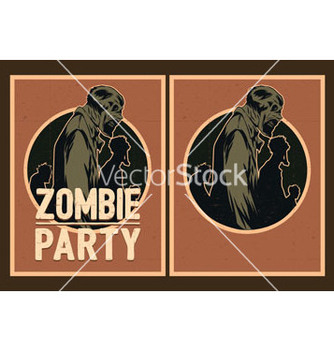 Free zombie party invitation vector - vector gratuit #236679