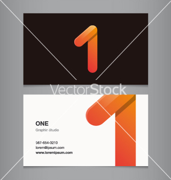 Free business card number 1 vector - бесплатный vector #236819