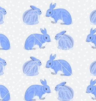 Free seamless texture rabbits and snow vector - Free vector #236859