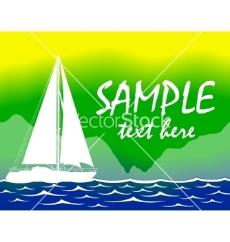 Free brazil summer color background with yacht vector - Kostenloses vector #237139