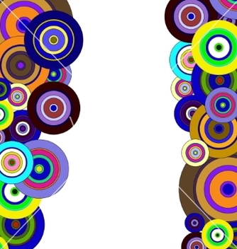 Free circles colorful pattern vector - Free vector #237319