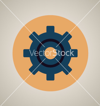 Free gear setting icon vector - vector gratuit(e) #237369