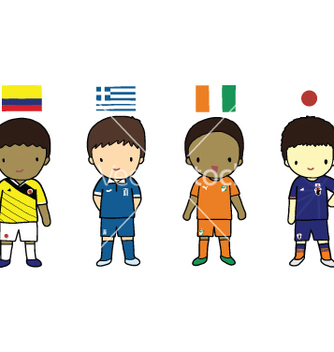 Free fifa 2014 football players group c vector - vector gratuit #237509