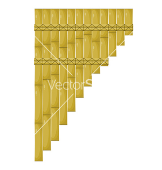 Free cartoon pan flute vector - Free vector #237549