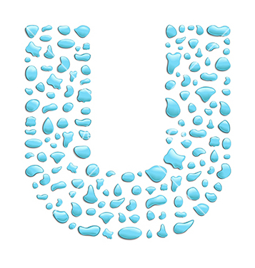 Free water letter u vector - Free vector #237569