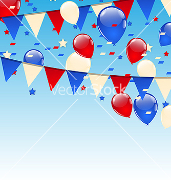 Free american background with balloons in the blue sky vector - vector gratuit(e) #237669