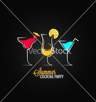 Free cocktail summer party design menu background vector - Free vector #237759