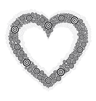 Free heart black circle vector - Free vector #237779