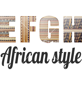 Free four letters of the alphabet in the african style vector - Kostenloses vector #237879