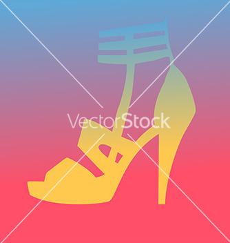 Free woman heel shoe silhouette vector - Kostenloses vector #237919
