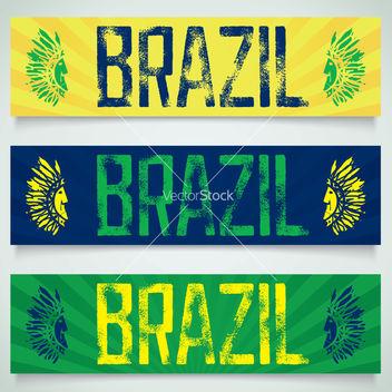 Free graffiti banner brazil vector - Kostenloses vector #237959