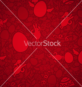 Free easter seamless pattern red vector - Free vector #238029