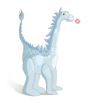 Free cute cartoon dragon vector - Free vector #238209
