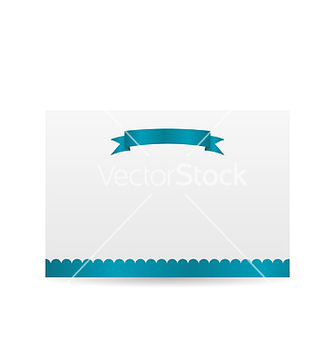 Free holiday card with blue ribbon isolated on white vector - Kostenloses vector #238329