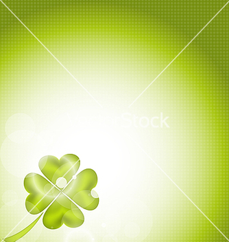 Free nature background with fourleaf clover for st vector - Free vector #238409