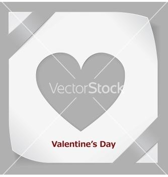 Free valentines day paper sticker vector - Kostenloses vector #238479