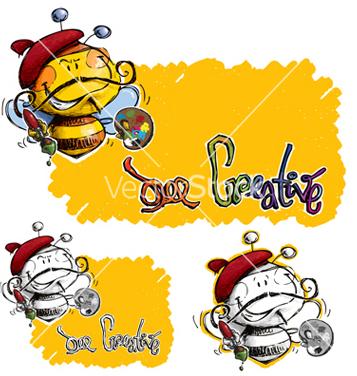 Free bee craetive vector - бесплатный vector #238489