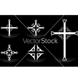 Free ornate crosses vector - Free vector #238499