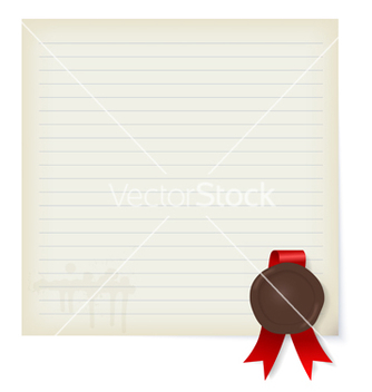 Free sheet of old paper with a wax seal vector - Kostenloses vector #238559