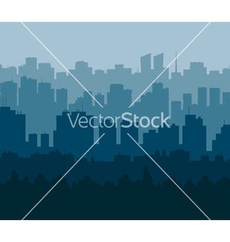Free blue city vector - Kostenloses vector #238589
