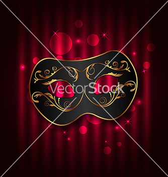 Free black carnival ornate mask on glowing background vector - vector gratuit(e) #238629