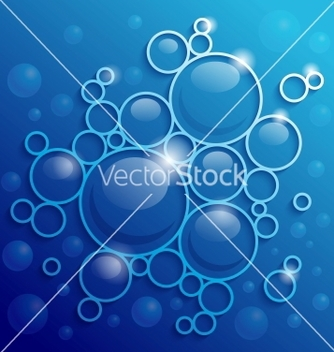 Free abstract blue background with shining circles vector - Kostenloses vector #238669