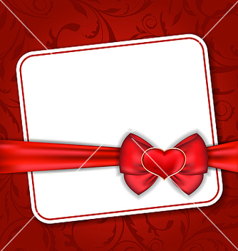 Free beautiful card for valentine day with red heart vector - vector gratuit #238679