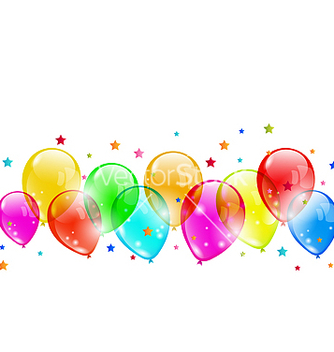 Free set colourful shiny balloons isolated on white vector - Free vector #238749