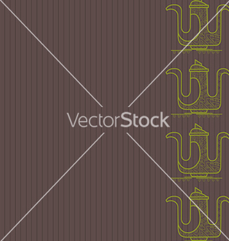 Free pattern of silhouette of teapot on a gray backgrou vector - vector gratuit(e) #238809