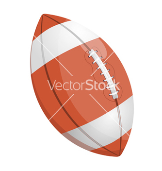 Free cartoon of a rugby ball vector - vector #238879 gratis