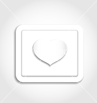 Free heart from paper for valentines day vector - Free vector #238949