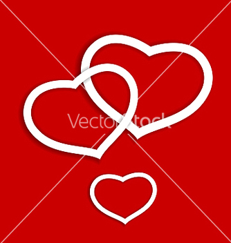 Free paper hearts for valentines day card vector - vector gratuit #238959