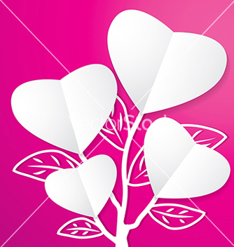 Free tree of paper heart vector - Kostenloses vector #239059