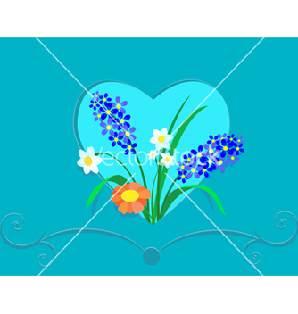 Free heart and flowers vector - vector gratuit #239129